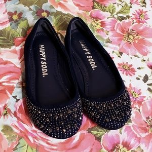 Other - New navy blue flats girls sequined holiday shoes